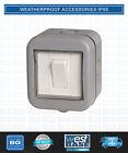 BG ELECTRICAL WEATHERPROOF WPB12 IP55 10 Amp 1 GANG 2-WAY SWITCH Outdoor Garden