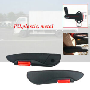 2×Truck Modified Adjustable Arm Rest Seat Arm Console Clamp No Drilling Install