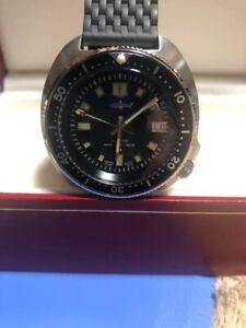 """Rare Vintage SEIKO 6105-8110 """"Captain Willard"""" Stainless Steel Diver Watch"""