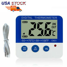 Us Electronic Digital Thermometers ℃/℉ Led Home in/Out Temperature Freezer Alarm