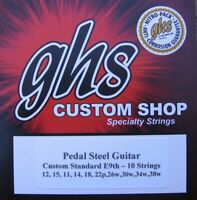GHS Custom E9th Standard Pedal Steel Guitar Strings - 10 Sets