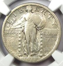 1918/7-S Standing Liberty Quarter 25C Coin - NGC Fine Details - Rare Overdate!