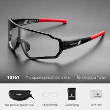 ROCKBROS Photochromatic Sunglasses Outdoor Sports Cycling 100%UV400 Full Frame
