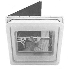 """American Motorhome RV Replacement Hengs Roof Vent With Fan White 14""""x14"""" Cut Out"""