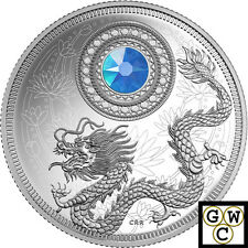 2016 March Birthstones Crystalized Proof $5 Silver Coin 1/4oz .9999Fine(17592)NT