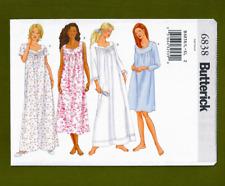 Butterick 6838 Ladies Petite Nightgown Size L XL Uncut Sewing Pattern