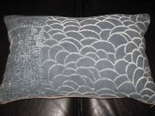 Zinc Log Cabin Denim cushion cover