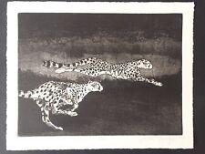 STEVE NOWATZKI Signed Etching Running on Soft Ground # 41 Collectable Art