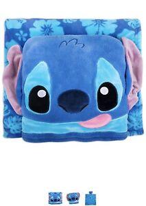 """Disney Store Stitch 50"""" X 50"""" Fleece Throw Pillow / Blanket - Lilo & Stitch"""