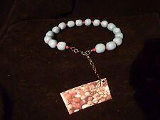 "16"" Resin Beads w/ Swarovski Crystal Bead Base Metal Sterling by Linda Sudimack"