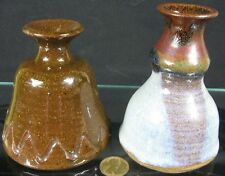 Lot of 2 Vintage Art Pottery Colonial Ink Wells Ford Museum JPK