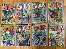 Marvel The Incredible Hulk Lot Of 8 Comics 1977-79 - Great Lot!