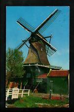 Windmills postcard Holland Sawmill Houtzaagmolen De Vriendschap chrome