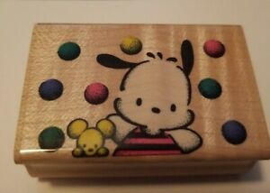 1993 Vintage Sanrio Pochacco Rubber Stamp Gently Used PC-A01