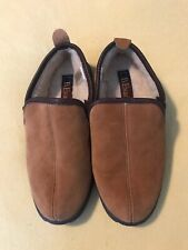 L.B. Evans Mens Size 9 EEE Brown  Suede Lined Slippers