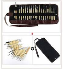 22Pcs Pottery Clay Sculpture Sculpting Carving Modelling Ceramic Hobby Tools
