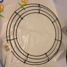 """Panacea Wire Wreath Frame 14"""" inch Green 36004 Christmas craft project Foral"""
