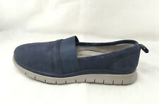VIONIC Women's Fresh Kristi Comfort Slip-On Flats Navy Suede US 9.5 Wide