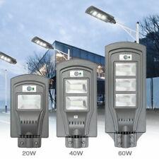 LAMPIONE 60 LED STRADALE GIARDINO FOTOVOLTAICO PANNELLO SOLARE 20 40 60 WATT DS