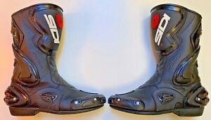 SIDI COBRA MENS EUR 44 US 9.5-10 MOTORCYCLE BOOTS LIGHTLY USED VERY GOOD COND.