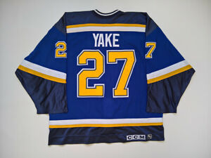 1999-00 St Louis Blues Game Worn Jersey Terry Yake Set 2 NHL 2000 CCM