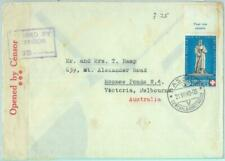 89096 - SWITZERLAND - POSTAL HISTORY - Red Cross on COVER to AUSTRALIA  1940