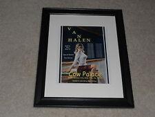 "Framed Van Halen 1984 Tour San Francisco Poster, 14""x17"" Very Rare!"
