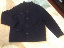 OLD NAVY Wool Blend 4 Four Pocket Jacket Military Coat Black L Large  NWT
