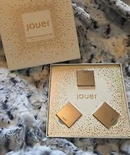 Jouer Cosmetics Powder Highlighter Trio SKINNY DIP, ICE & ROSE GOLD! Set 2
