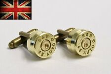 .45 Auto Colt 1911 Pistol Cufflinks Trench Art Thompson SMG Bullet