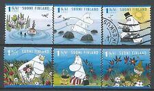 ˳˳ ҉ ˳˳FI09 Finland Animation Cartoons Mumins - 6 different 2007 Complete set