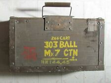 WW 1 WOOD AMMO BOX ENGLISH Mk7 SOUTH AFRICA MADE FOR ARMY USE