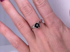 Pandora Cherry Blossom Black Enamel Ring