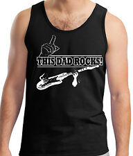 Fathers Day Tank Vest Sleeveless Top T-Shirt T-Shirt Gift This Dad Still Rocks