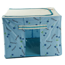 Practical Clothes Storage Box Quilt Finishing Case Blue Household Organzier S3
