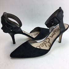 5862d5e76 Sam Edelman Cowhide Black Leather Heels Shoes Pumps Women Size 9