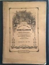 OTTOCENTINA SCENE ELLENICHE DI ANGELO BROFFERIO PEYRON 1845