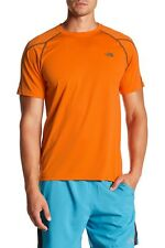 The North Face Men's Voltage Short Sleeve Gym Workout Orange T-Shirt Size Large