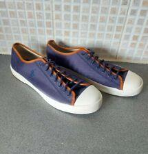Ralph Lauren Polo Mens Blue & White Canvas Shoes Size 8.5