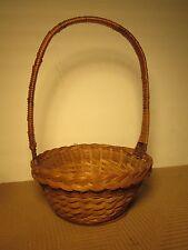 Wicker Basket w/handle woven 8-1/2
