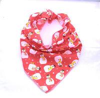 Red Snowman Christmas Dog Bandana - Tie on Classic/Stocking Filler Xmas