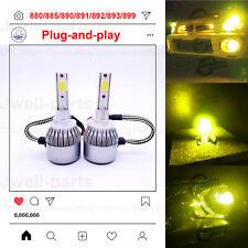 880 LED Fog Driving Light Bulbs Conversion Kit Canbus Lamp 60W 3000K Yellow