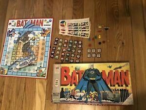 VINTAGE BATMAN BOARD GAME 1966 MILTON BRADLEY All game pieces present
