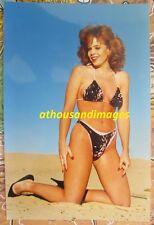 Vtg 80's Photo/Hot Sexy Long Legs Redhead Hair Woman In Bikini High-Heels T44