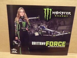 """Brittany Force """"MONSTER"""" T/F NHRA Handout, Postcard"""