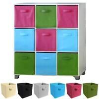 4x Foldable Storage Collapsible Folding Box Clothes Organizer Fabric Cube UK