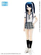 Azone 50cm Short Length Check Sailor Uniform Set Blue Check Yamato VMF50 Obitsu