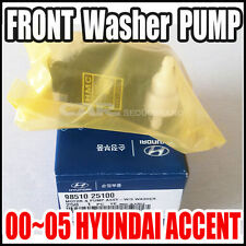 HYUNDAI 2000-2005 ACCENT Windshield  Washer Pump Genuine Factory OEM 98510-25100
