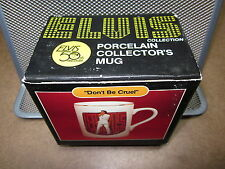 ELVIS PRESLEY coffee mug Don't Be Cruel w/ box 50 Anniversary 1985 commemorative