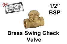"Swing Check Valve - 1/2"" (15mm) - Brass - Backflow Prevention"